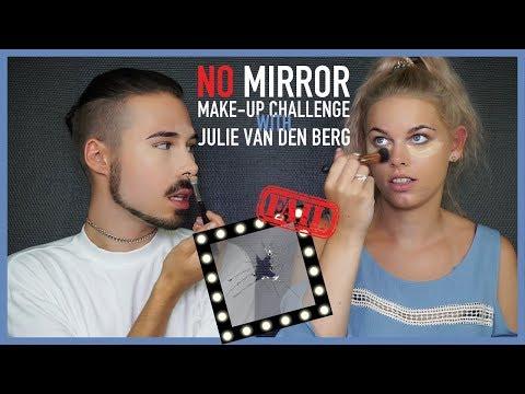 NO MIRROR MAKE-UP Challenge with Julie van den Berg #BIGFAIL | Fashination