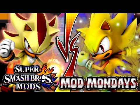 Super Smash Bros Wii U SUPER SONIC VS SUPER SHADOW (Smash 4/SSB4) Mod Mondays