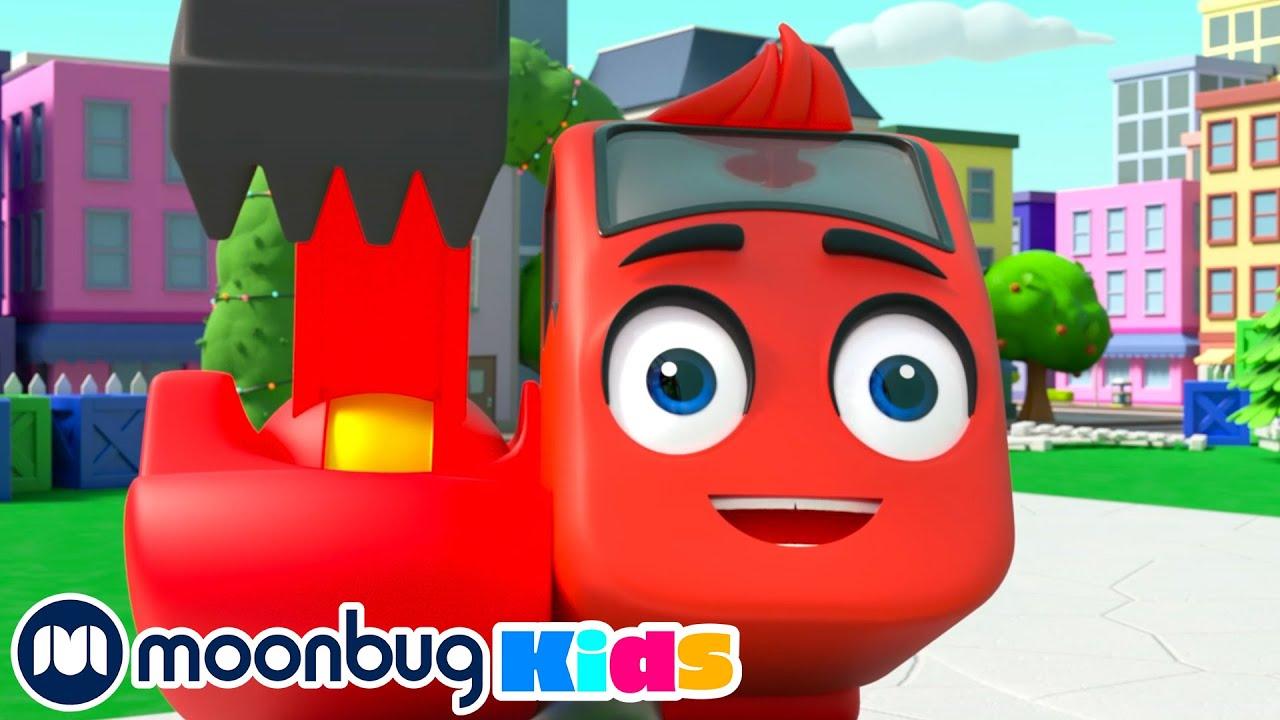 Building a Ferris Wheel | Digley & Dazey | Cars, Trucks & Vehicles Cartoon | Moonbug Kids