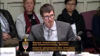Paul Dirks Testifies on Bill C-16