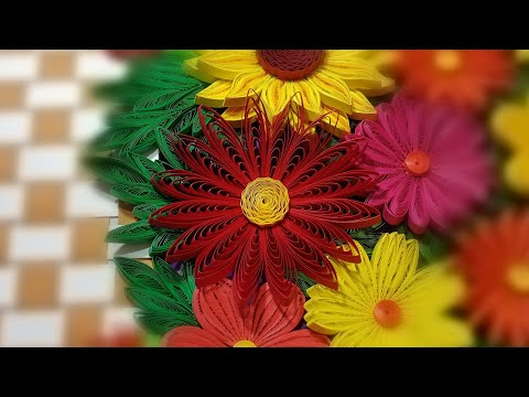 Paper Flower using Quilling Comb | How to make a 3D Quilling Flower