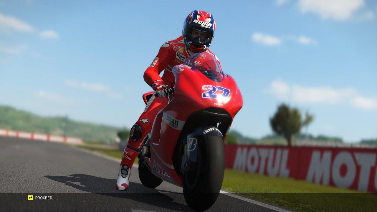 MotoGP 16 - Casey Stoner (DUCATI) 2007 - Valencia gameplay - YouTube