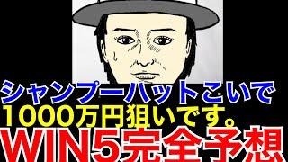 YouTube動画:【WIN5クイーンS他】1000万円狙いのシャンプーハットこいでが自信の買い目を発表!!!!