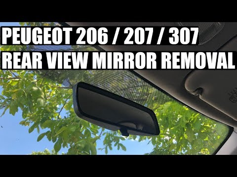 TUTORIAL: How to remove / replace rear view mirror on Peugeot  206, 207, 307