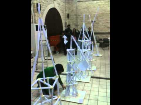 Paper Tower Building At The Cyprus University Of Technology Year 1 Team E