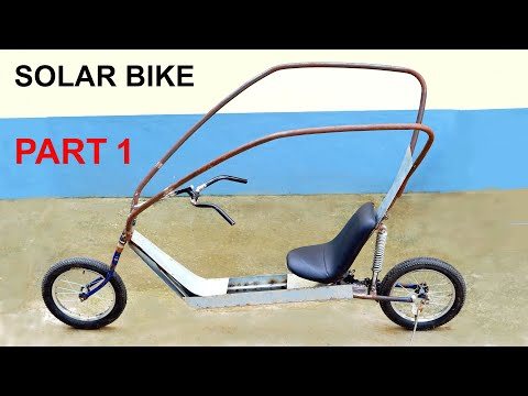 Build A Solar Electric Bike With Old Bicycle - PART 1 thumbnail