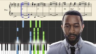 John Legend - I Know Better - Piano Tutorial + SHEETS
