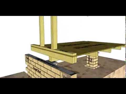 Section Through A Brick Veneer Platform Floor Building