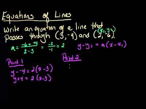 Point Slope Form Using Two Points, and Converting to Slope ...