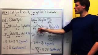 §2.3 Video 1: Limit Laws