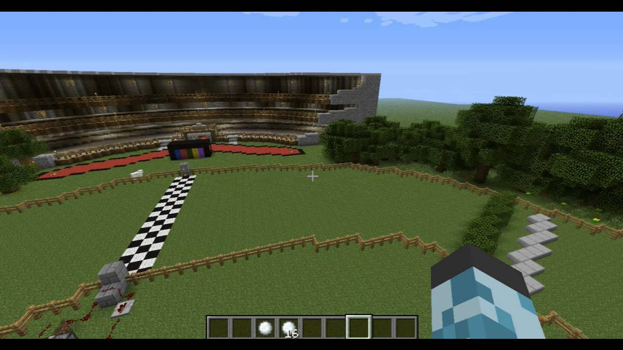 Horse racing map for new update! (minecraft) - YouTube
