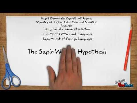 The Sapir Whorf Hypothesis Youtube