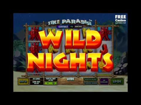"""New video review of slot game """"Tiki Paradise"""" by Ash Gaming play for FREE"""