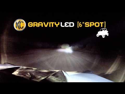 KC HiLiTES Off-Road Light Testing on UTV - Gravity® LED G6 Spot System