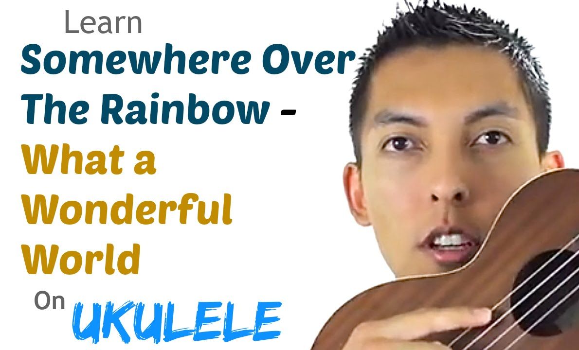 How To Play Somewhere Over The Rainbow What A Wonderful World by IZ on Ukulele Tutorial.mp4 ...