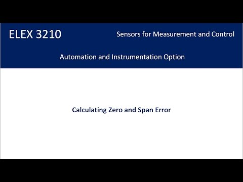 Calculating Zero and Span Error