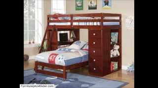 Twin Over Twin Modular Loft Bed With Chest And Desk
