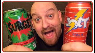 BACK TO THE 90S ! SURGE / JOLT COLA TASTE TEST product review