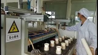 Bio tableware technology / Производство био посуды / fabricación de vajilla desechable bio
