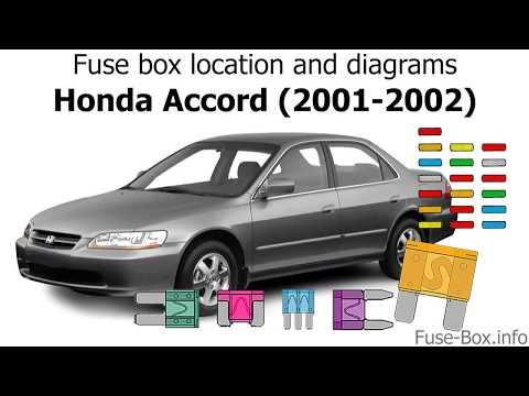 Fuse Box Location And Diagrams: Honda Accord (2001-2002)