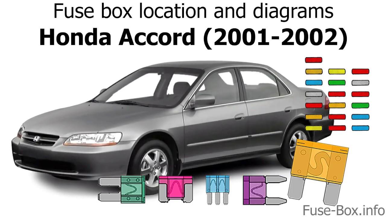 fuse box location and diagrams honda accord 2001 2002  [ 1280 x 720 Pixel ]