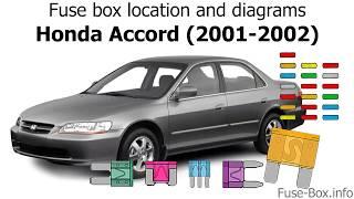 fuse box location and diagrams: honda accord (2001-2002) - youtube  youtube