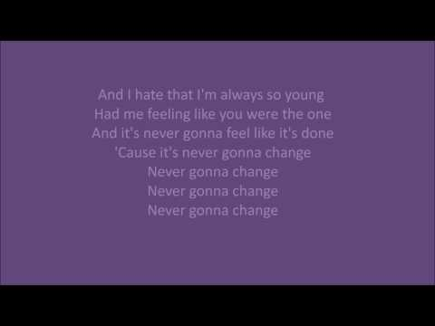 Broods - Never gonna change with lyrics on screen