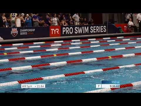 Men's 1500 Freestyle Heat 1 - TYR PRO SWIM SERIES AT INDIANAPOLIS