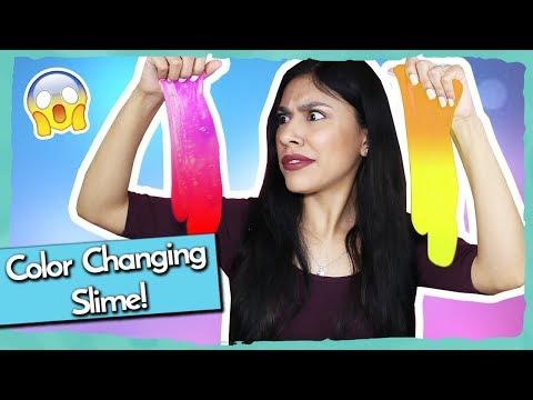 DIY COLOR CHANGING SLIME! - Super Easy! How to Make Color Changing Slime!