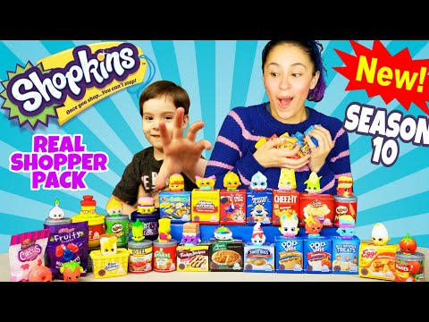 NEW Shopkins Oh So REAL Shopper Packs COMPLETE COLLECTION 2018 | Kelloggs Welchs TINY FOODS