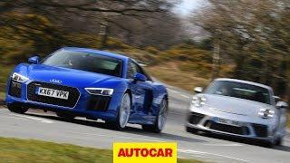 Audi R8 RWS V10 vs Porsche 911 GT3 - 2018 review | Autocar