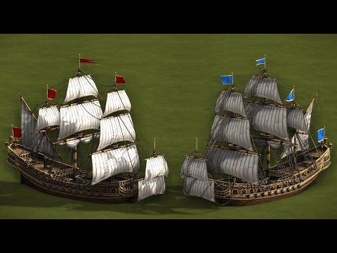 200 SHIP OF THE LINE vs 200 SHIP OF THE LINE - COSSACKS 3