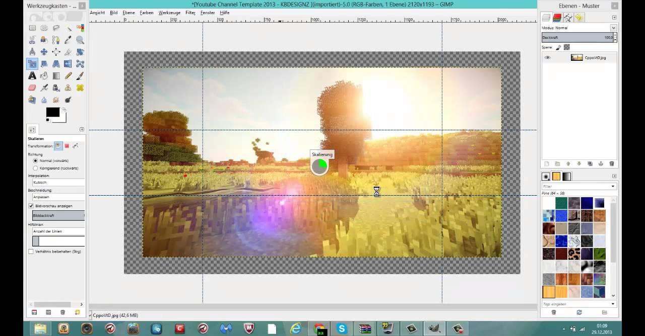 Gimp tut minecraft wallpaper erstellen schnell und einfach deutsch youtube - Wallpaper erstellen ...