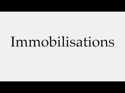 How to Pronounce Immobilisations