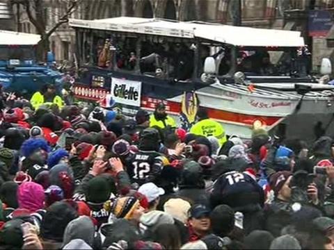 Boston Cheers Patriots with Super Bowl Parade
