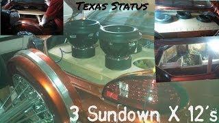 3 Sundown X 12s in trunk of 98 Grand Prix