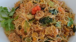 NOODLES - FRIED SPICY BEEHOON-THIN RICE NOODLE - MALAYSIAN STYLE