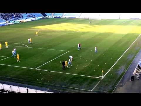 Coventry v Millwall Tennis Ball Protest
