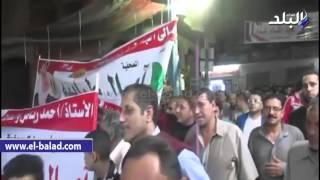 بالفيديو والصور.. مسيرة تأييد لمرشحة المرأة بمنية النصر