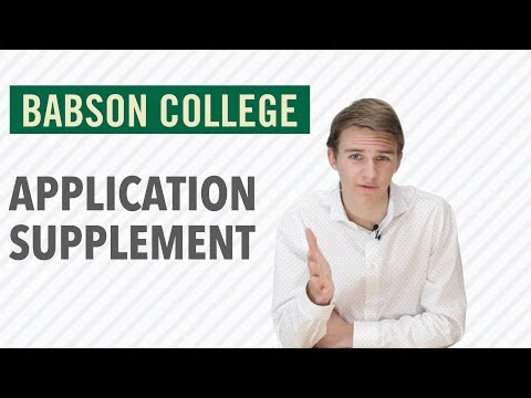 Babson College Application Video