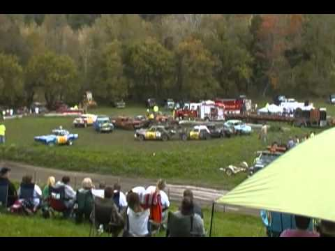 v-8 heat 1 demolition derby belfast ny 9-29-12