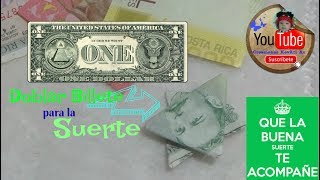 Doblar Billete Dolar para buena suerte/Easy Origami DOLLAR STAR/Billete En Estrella De David