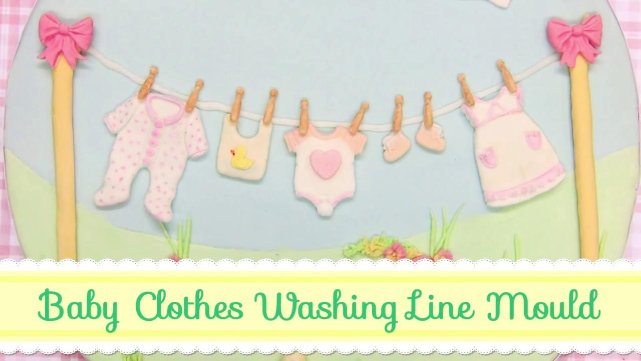 Baby Washing Line Cake Decorating Tutorial