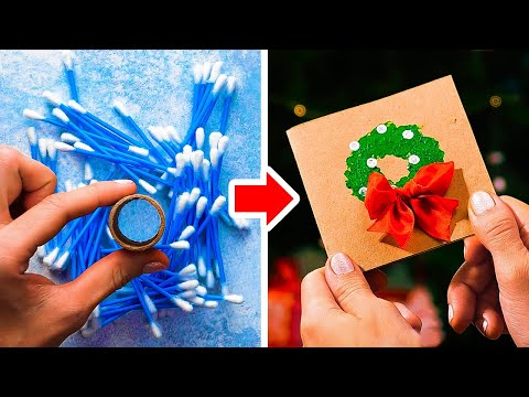 35 Easy Holiday CARDS || Amazing Gift Wrapping Ideas by 5-Minute DECOR!