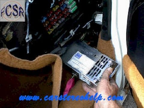 hqdefault how to chevy corvette c4 bose cdm tuner receiver box removal 1990 1992 Corvette Fuse Box Location at metegol.co