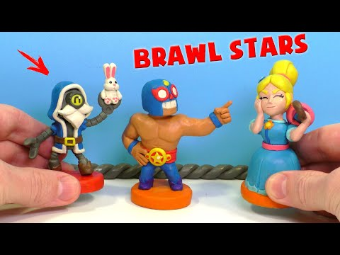 BRAWL STARS ⭐ Барли Волшебник, Пайпер и Эль Примо | Бравл Старс лепим из пластилина