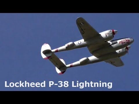 Lockheed P-38 Lightning, giant scale electric powered RC airplane, 2016