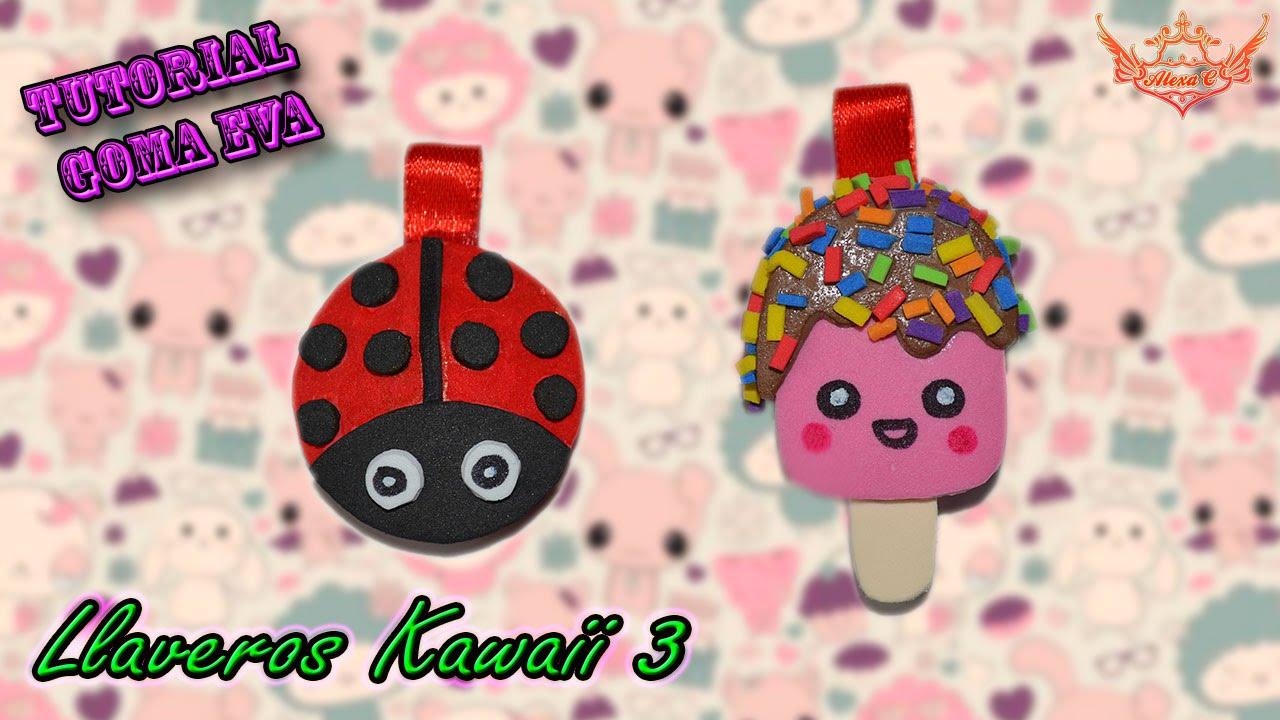 Tutorial: Llaveros Kawaii 3 de Goma Eva (Foamy) ♥ - YouTube