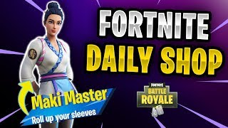 Fortnite Daily Shop - New Maki Master Skin (21st November 2018)