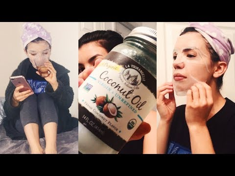 MY PAMPER NIGHT ROUTINE | COCONUT OIL HACKS + NETFLIX FAVES!